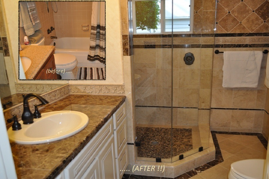 We Recently Remodeled This Master Bathroom Bringing It Firmly From The 60s Into 21st Century Removed Tub And Demolished Everything Back To