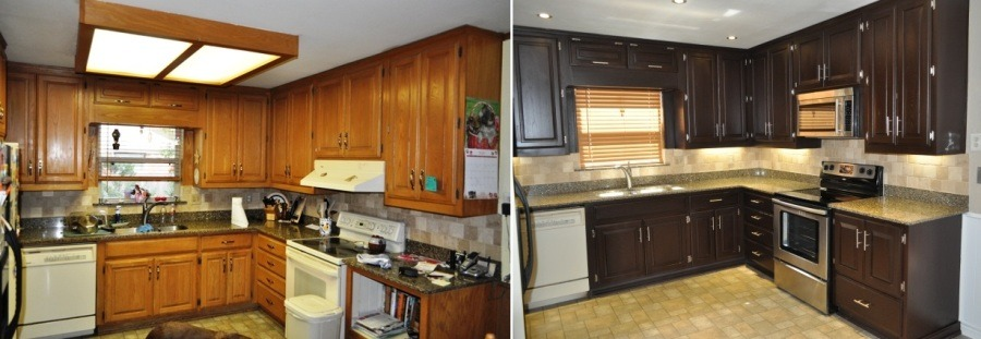 restain oak kitchen cabinets kitchens millwood remodeling and design 25513